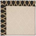 Capel Rugs Creative Concepts White Wicker - Bamboo Coal (356) Octagon 10