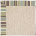 Capel Rugs Creative Concepts White Wicker - Brannon Whisper (422) Octagon 10