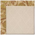 Capel Rugs Creative Concepts White Wicker - Cayo Vista Sand (710) Octagon 10