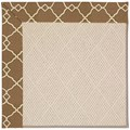 Capel Rugs Creative Concepts White Wicker - Arden Chocolate (746) Octagon 12