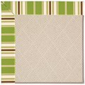 Capel Rugs Creative Concepts White Wicker - Tux Stripe Green (214) Rectangle 3