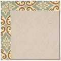 Capel Rugs Creative Concepts White Wicker - Shoreham Spray (410) Rectangle 3