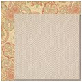 Capel Rugs Creative Concepts White Wicker - Paddock Shawl Persimmon (810) Rectangle 3