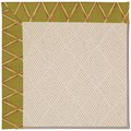 Capel Rugs Creative Concepts White Wicker - Bamboo Tea Leaf (236) Rectangle 8