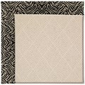 Capel Rugs Creative Concepts White Wicker - Wild Thing Onyx (396) Rectangle 8