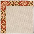 Capel Rugs Creative Concepts White Wicker - Shoreham Brick (800) Rectangle 9