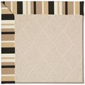 Capel Rugs Creative Concepts White Wicker - Granite Stripe (335) Rectangle 12