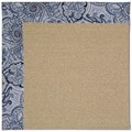 Capel Rugs Creative Concepts Sisal - Paddock Shawl Indigo (475) Rectangle 5