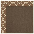 Capel Rugs Creative Concepts Java Sisal - Arden Chocolate (746) Octagon 12