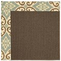 Capel Rugs Creative Concepts Java Sisal - Shoreham Spray (410) Rectangle 3
