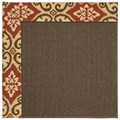 Capel Rugs Creative Concepts Java Sisal - Shoreham Brick (800) Rectangle 9