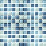 "Daltile Color Wave Glass Mosaic 1"" x 1"" : Winter Blues CW2711MS1P"