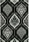 Nourison Collection Library Jaipur (JA18-BLK) Rectangle 9'6
