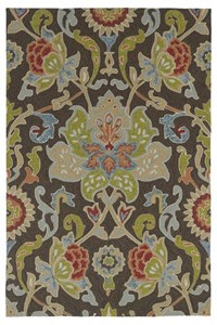 Nourison Collection Library Tropics (TS03-PLU) Rectangle 3'6
