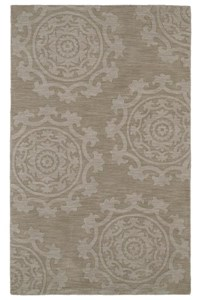 Nourison Collection Library Tropics (TS09-BRN) Rectangle 3'6