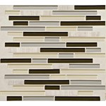 "Daltile Mosaic Traditions: Evening Sky 5/8"" x 3"" Glass Brick-joint Mosaic Tile BP97-583BJMS1P"