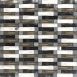 "Daltile Intertwine: Power Blend 5/8"" x 2"" Glass Mosaic Tile F175-12BLENDMS1P"