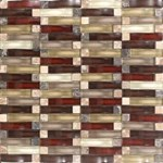 "Daltile Intertwine: Energy Blend 5/8"" x 2"" Glass Mosaic Tile F179-12BLENDMS1P"