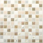 "Daltile Coastal Keystone Mosaic 12"" x 12"" : Coconut Beach Blend CK85 11PM1P"