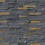 "MS International Charcoal Rust Ledger Panel 6"" x 24"" Natural Slate Wall Tile : LPNLSCHARUS624"