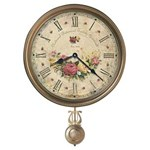 Howard Miller 620-440 Savannah Botanical VII Non-Chiming Wall Clock