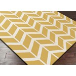 "Surya Jill Rosenwald Fallon Golden Yellow (FAL-1092) Square 1'6"" x 1'6"""