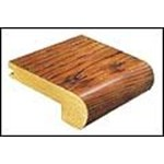 "Mannington The American Rustics Collection Chesapeake Hickory Plank: Stair Nose Amber - 84"" Long"