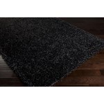 "Surya Vivid Jet Black (VIV-801) Rectangle 2'6"" x 4'2"""
